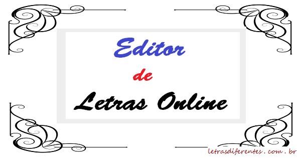 Editor de Letras Online