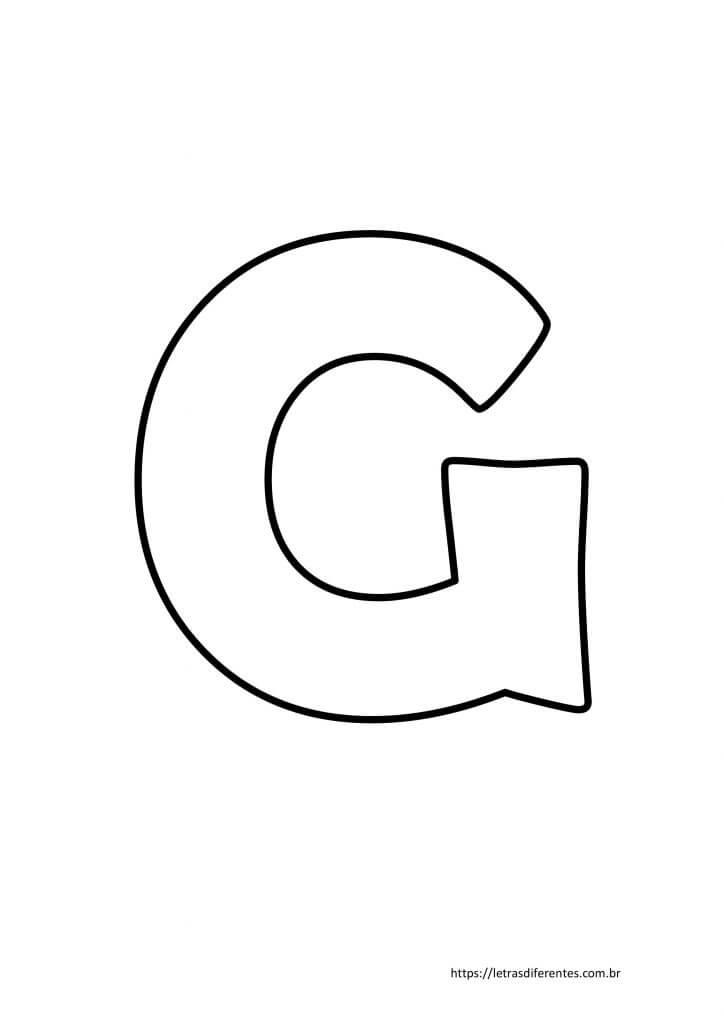 Letra G para imprimir grátis, moldes de letras
