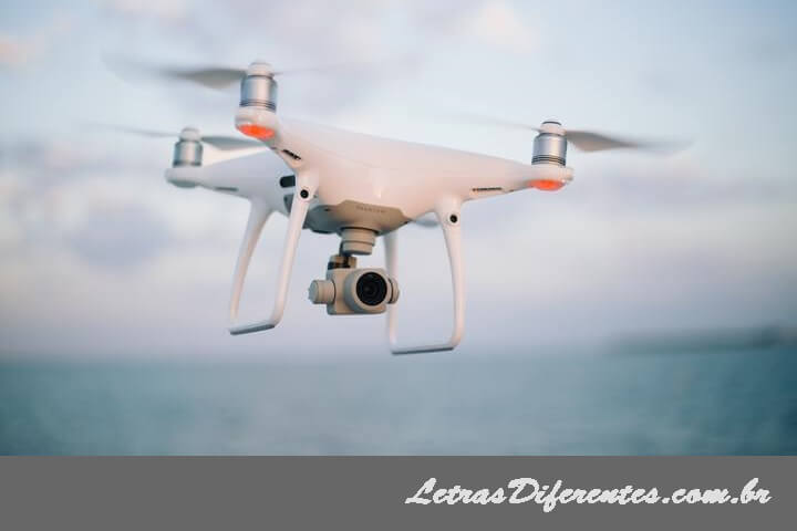 vigilância aérea por drone